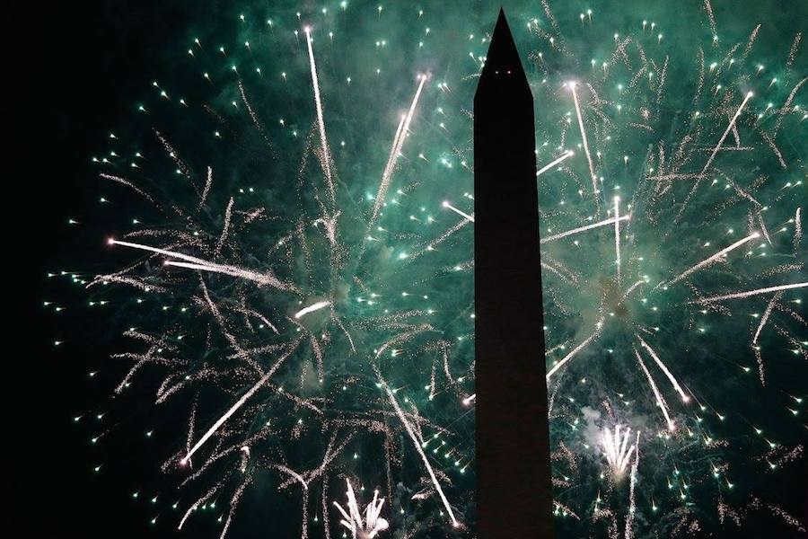 The fireworks finale during <em>A Capitol Fourth</em> at U.S. Capitol, West Lawn on July 4, 2017 in Washington, DC. (Photo by Paul Morigi/Getty Images for Capital Concerts)