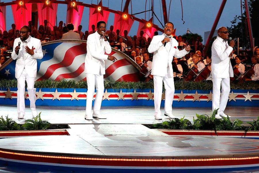 Motown legends The Four Tops perform at <em>A Capitol Fourth</em> at U.S. Capitol, West Lawn on July 4, 2017 in Washington, DC. (Photo by Paul Morigi/Getty Images for Capital Concerts)