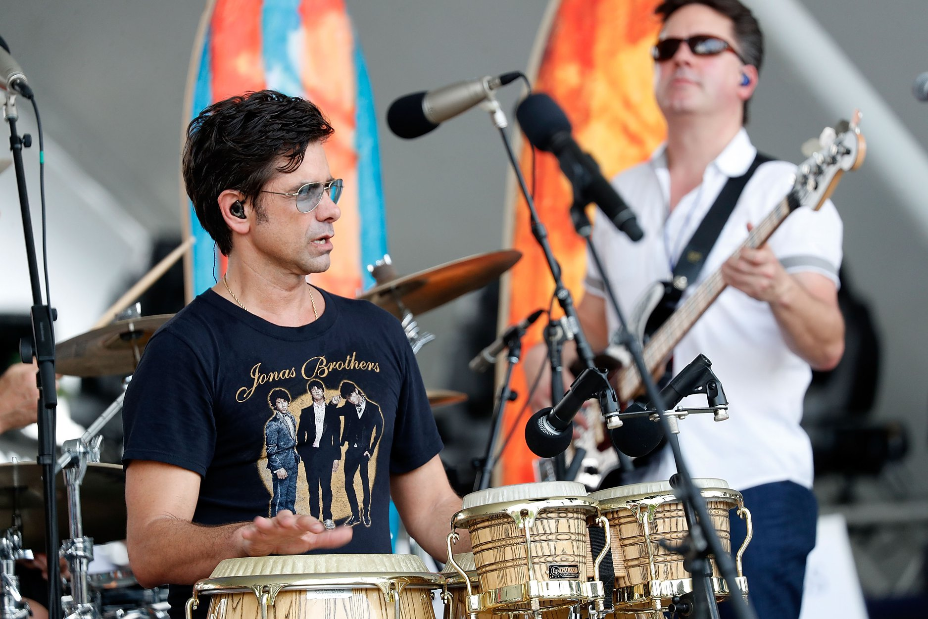 John Stamos rehearsing with the Beach Boys for the 2019 <em>A Capitol Fourth</em>.