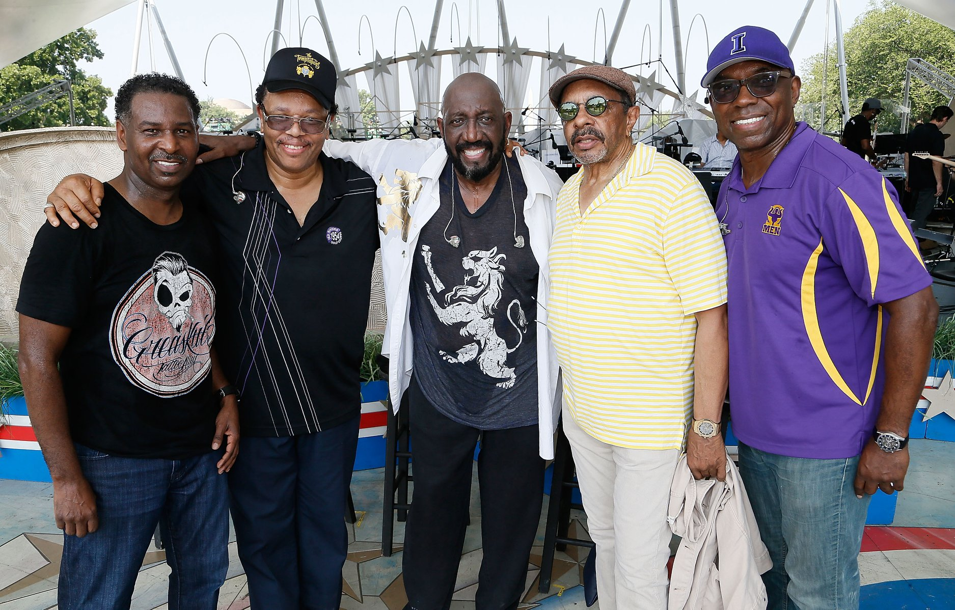 The Temptations rehearsing for the 2019 <em>A Capitol Fourth</em>.