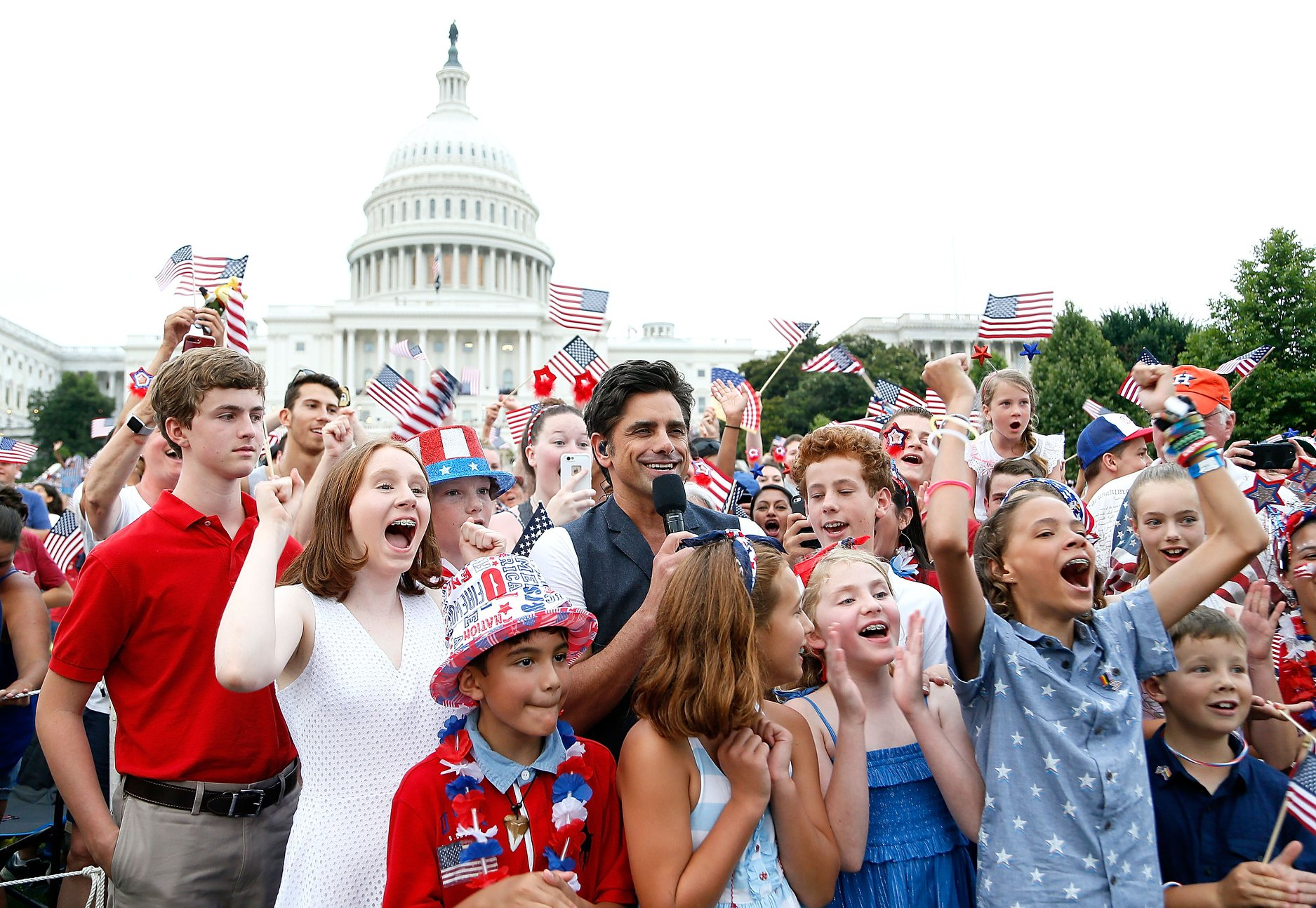John Stamos hosting the 2019 <em>A Capitol Fourth</em>.