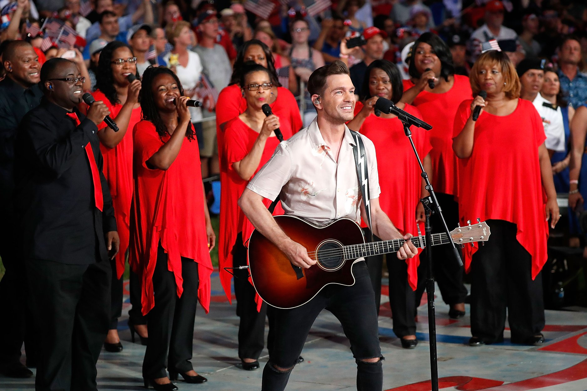 "Andy Grammer performs ""Home"" at the 2019 <em>A Capitol Fourth</em>."
