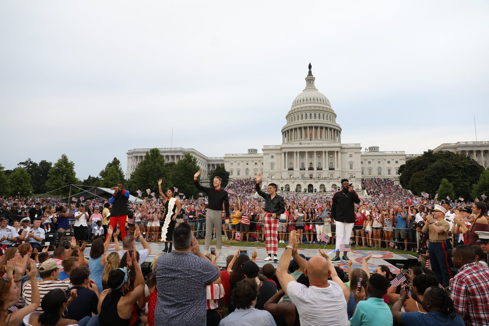 "Pentatonix performs ""Sing"" to open the 2019 <em>A Capitol Fourth</em>."