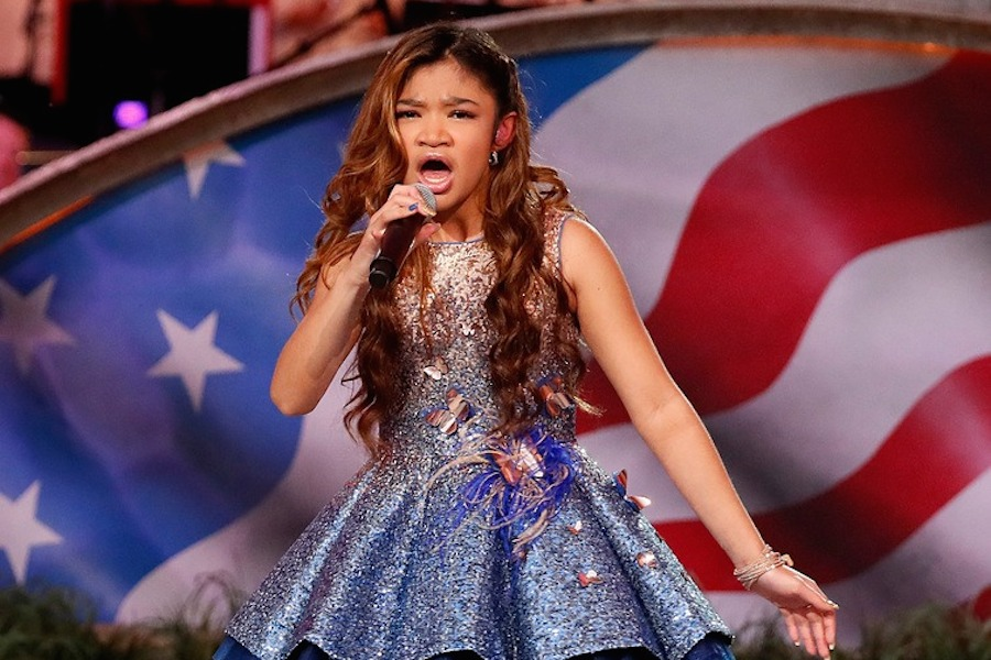 "America's Got Talent's Angelica Hale performs ""Get on Your Feet"" at the 2019 <em>A Capitol Fourth</em>."