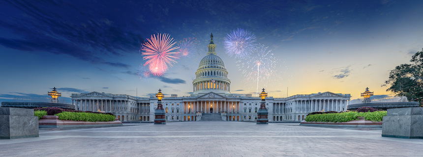 The Capitol with Fireworks