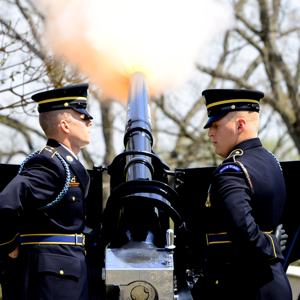 The U.S. Army Presidential Salute Battery