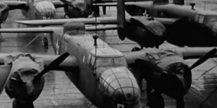 B-25 bombers aboard the USS Hornet before the Doolittle Raid