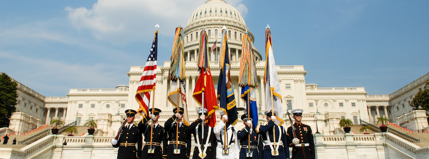 The Color Guard at the Capitol