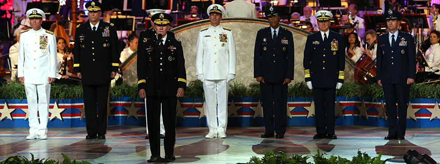 The Joint Chiefs on stage at the National Memorial Day Concert