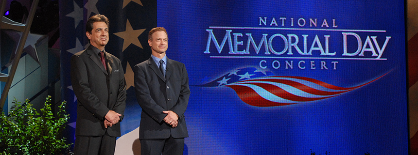 Joe Mantegna and Gary Sinise co-host the National Memorial Day Concert