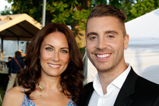 Broadway star Laura Benanti and American Idol winner Nick Fradiani pose backstage durning a rehearsal for the 2015 National Memorial Day Concert.