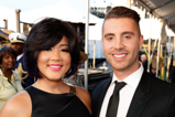 The Voice winner Tessanne Chin and American Idol winner Nick Fradiani smile for the camera backstage at the 2015 National Memorial Day Concert.