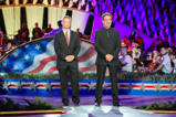 Co-hosts Gary Sinise and Joe Mantegna on the 2015 National Memorial Day Concert.