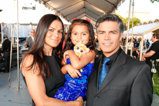 Actor Esai Morales and his family pose backstage at the 2015 National Memorial Day Concert.