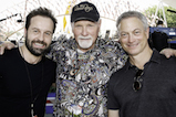 Broadway sensation Alfie Boe, iconic music legend Mike Love of the Beach Boys and Emmy Award winner Gary Sinise pose for a photo at the 2016 <em>National Memorial Day Concert</em>.