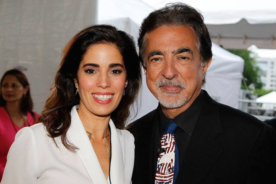 Ana Ortiz and host Joe Mantegna backstage at PBS' 2017 <em>National Memorial Day Concert</em> - Rehearsals at U.S. Capitol, West Lawn on May 27, 2017 in Washington, DC. (Photo by Paul Morigi/Getty Images for Capital Concerts)