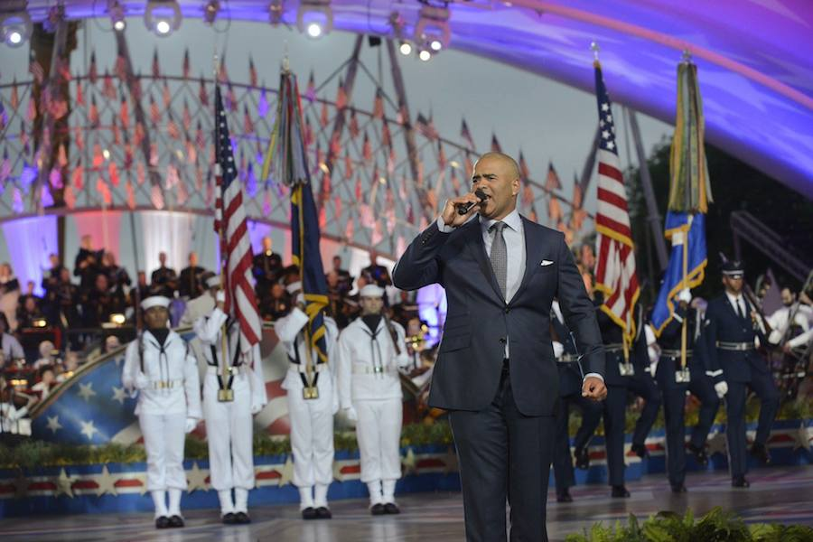 "Christopher Jackson, star of Broadway's ""Hamilton"" and CBS' ""Bull"" performs at PBS' 2017 <em>National Memorial Day Concert</em> at U.S. Capitol, West Lawn on May 28, 2017 in Washington, DC."