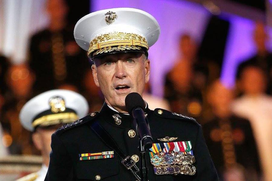 Chairman of the Joint Chiefs of Staff Gen. Joseph Dunford Jr. at PBS' 2017 <em>National Memorial Day Concert</em> at U.S. Capitol, West Lawn on May 28, 2017 in Washington, DC. (Photo by Paul Morigi/Getty Images for Capital Concerts)