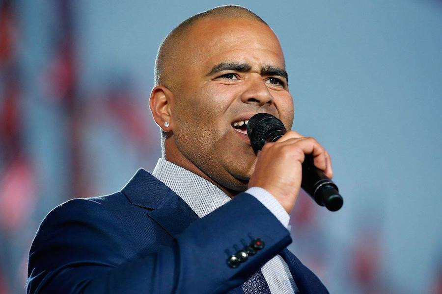 "Christopher Jackson, star of Broadway's ""Hamilton"" and CBS' ""Bull"" performs at PBS' 2017 <em>National Memorial Day Concert</em> at U.S. Capitol, West Lawn on May 28, 2017 in Washington, DC. (Photo by Paul Morigi/Getty Images for Capital Concerts)"