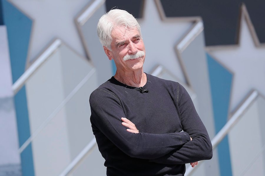 Actor Sam Elliott rehearsing for the 2019 <em>National Memorial Day Concert</em>.