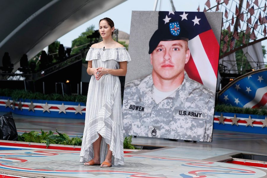 Actor Jaina Lee Ortiz rehearsing for the 2019 <em>National Memorial Day Concert</em>.