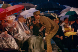 Tony Danza performs a song and dance for veterans of World War I on a rainy <i>National Memorial Day Concert</i>.