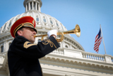 Each year on the <i>National Memorial Day Concert</i>, a military bugler plays taps in memory of all those who have served our country in the military and perished.