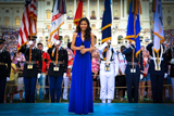 Jessica Sanchez after performs the National Anthem on the 2012 <i>National Memorial Day Concert</i>
