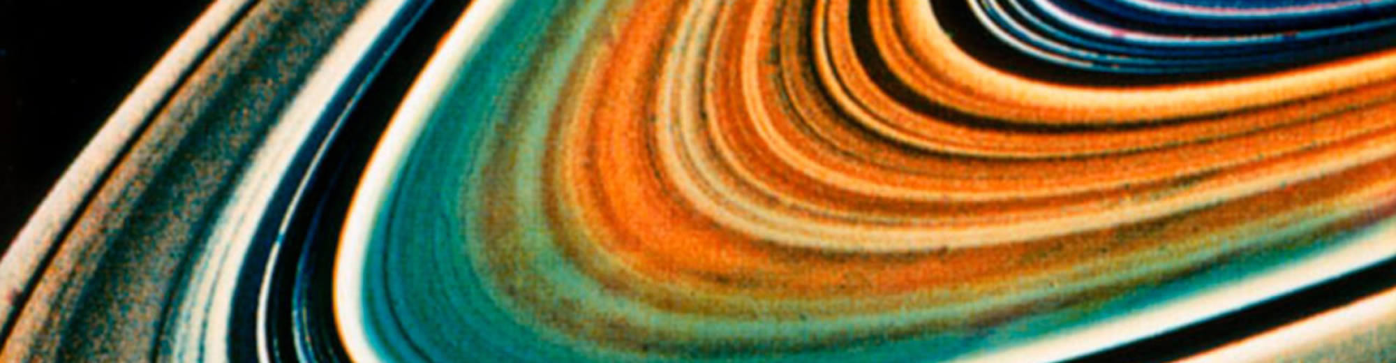 close-up image of Saturn's rings