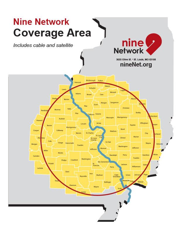 Nine Network Coverage Area