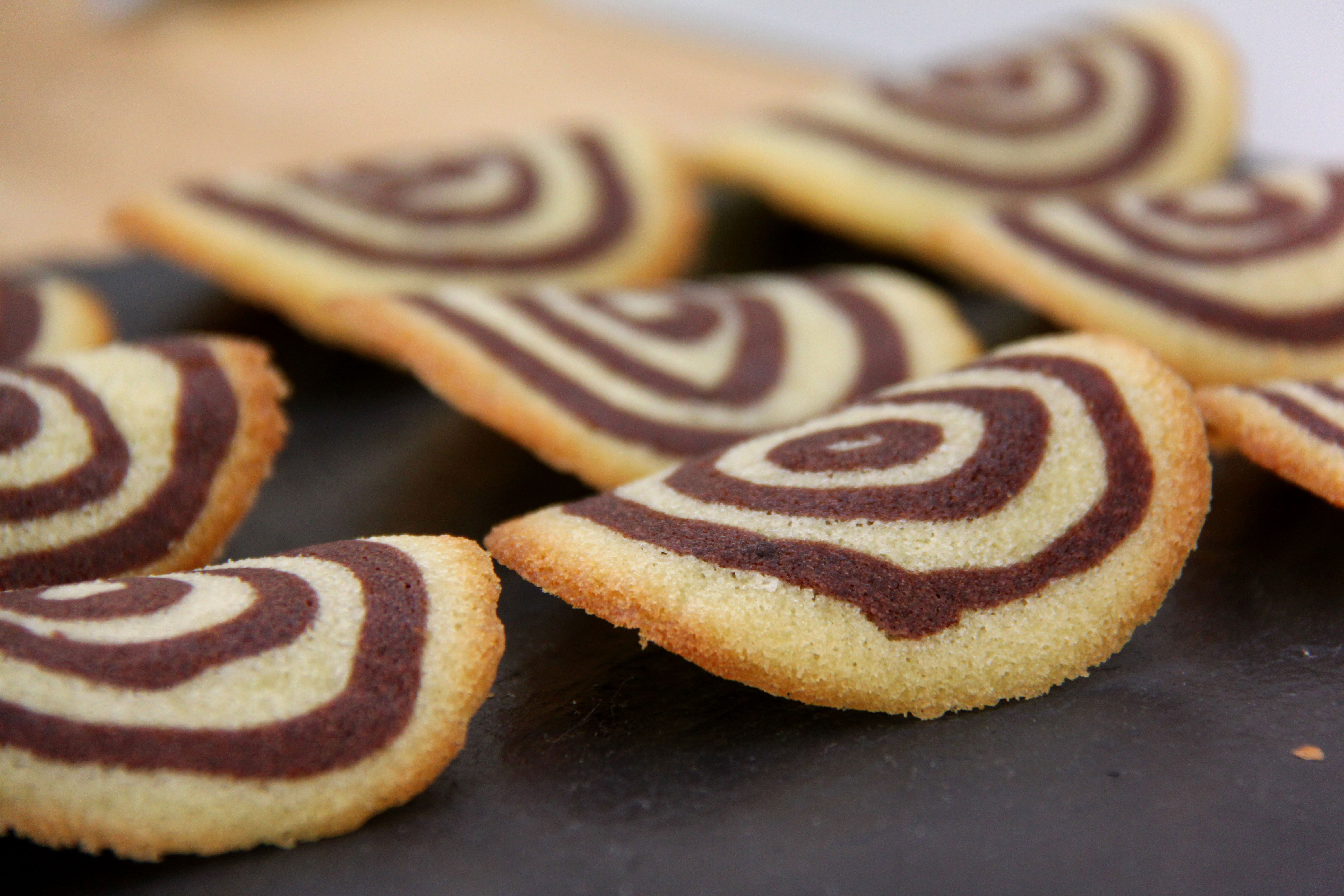 French Classic Tuiles with Chocolate Mousse
