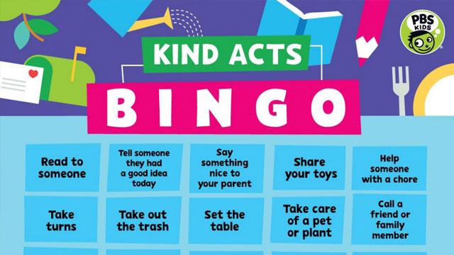 Kind Acts Bingo