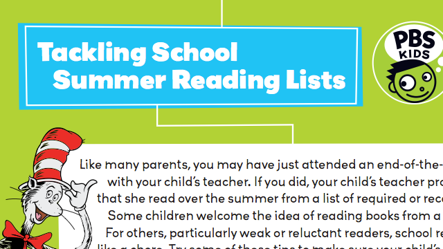 Tackling School Summer Reading Lists