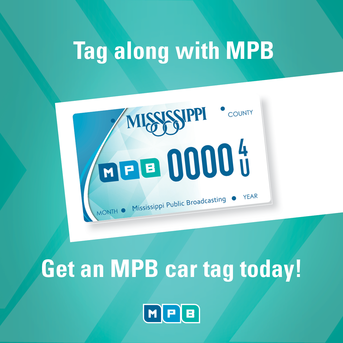 Tag along with MPB! Get the new MPB Car Tag!