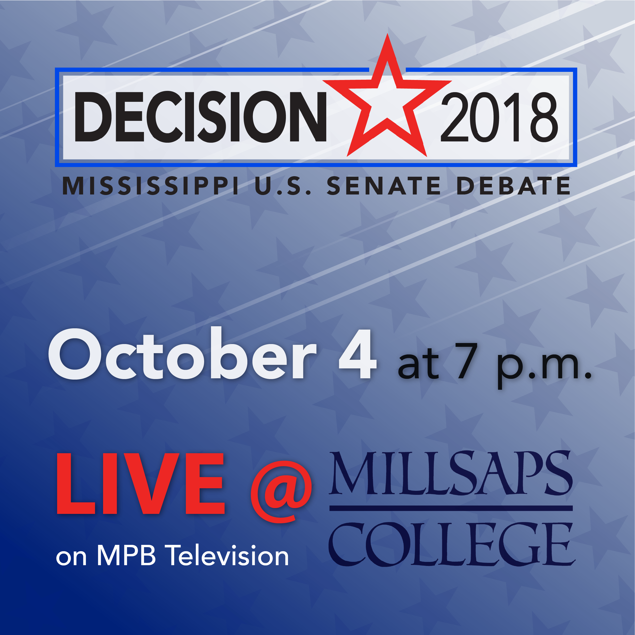 Don't miss the upcoming Senate Debate on October 4 at 7 p.m. on MPB Television.