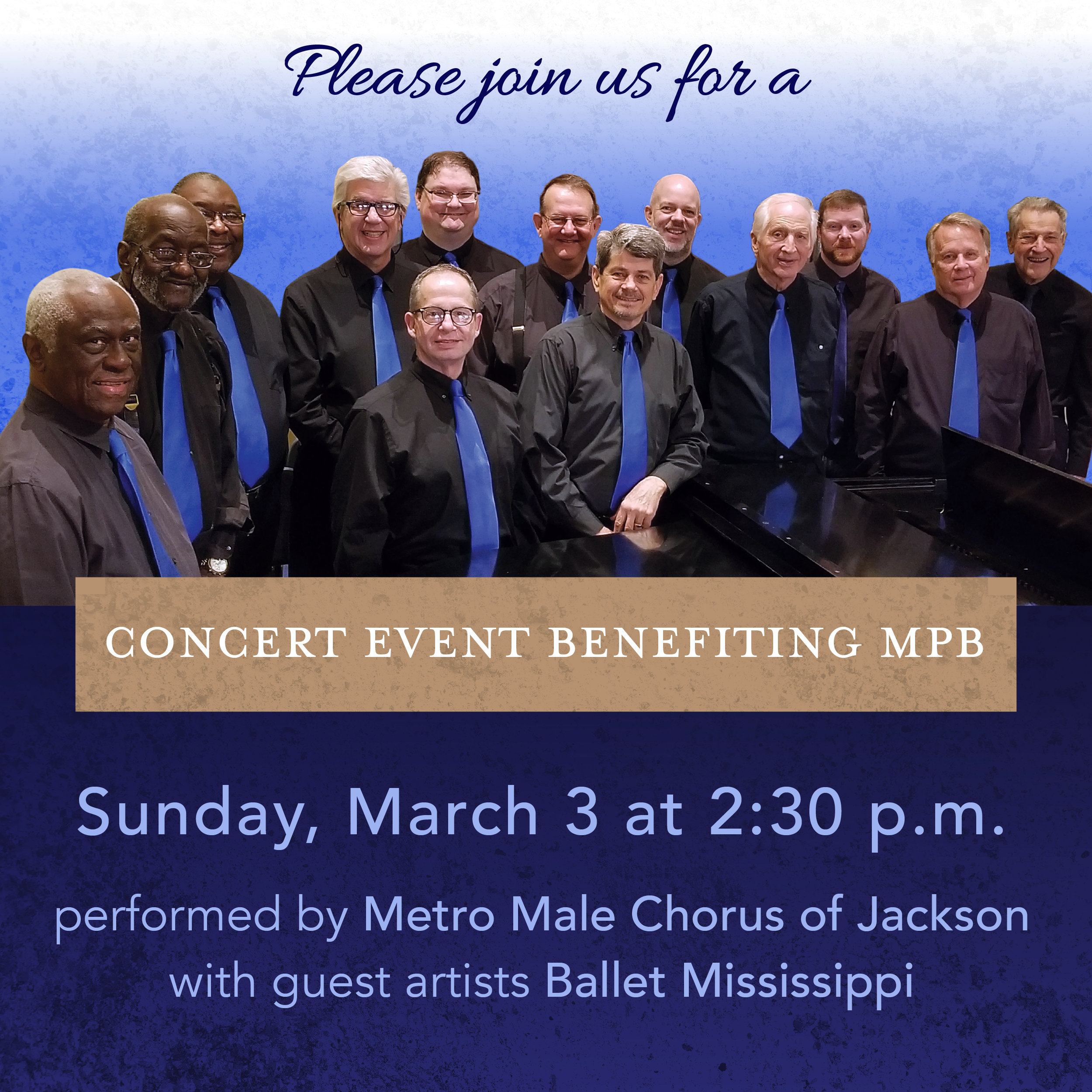 Metro Male Chorus of Jackson Benefit Concert