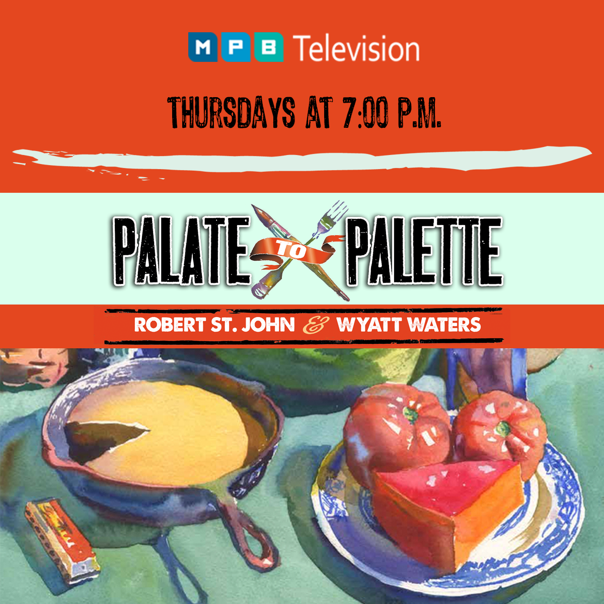 Watch Palate to Palette on Thursdays at 7 p.m. on MPB Television.
