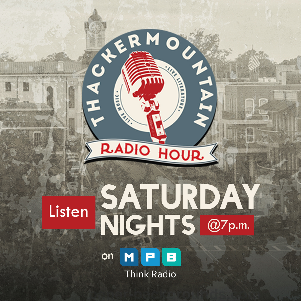 Listen to Thacker Mountain Radio Hour on Saturdays at 7 p.m. on MPB Think Radio