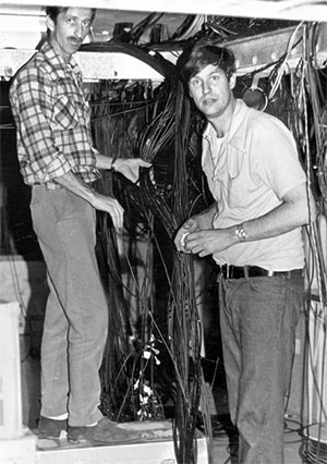 Vintage engineers and wires