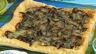 Garlic Scapes & Mushroom Tart