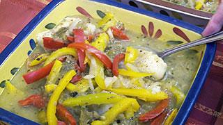 Sautéed Cod with Salsa Verde