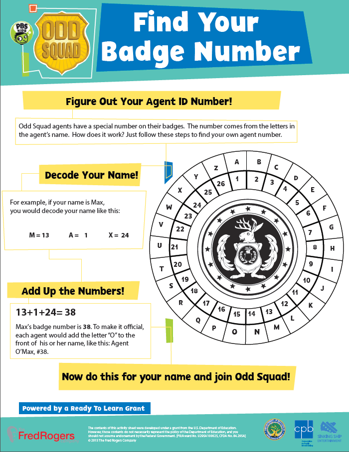 Odd Squad . Printables. PBS KIDS Programs | PBS Parents | PBS