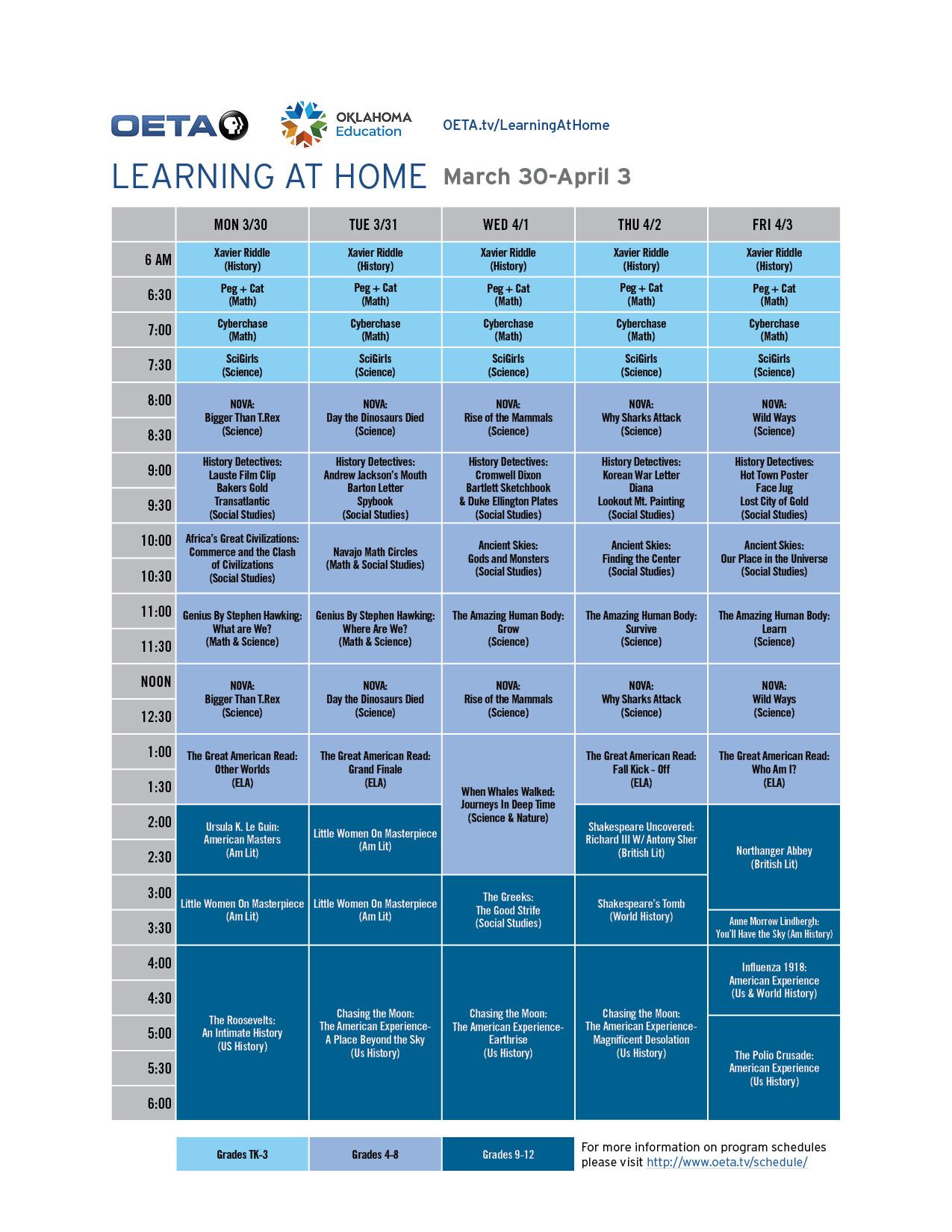 OETA WORLD Guide - March 30-April 3