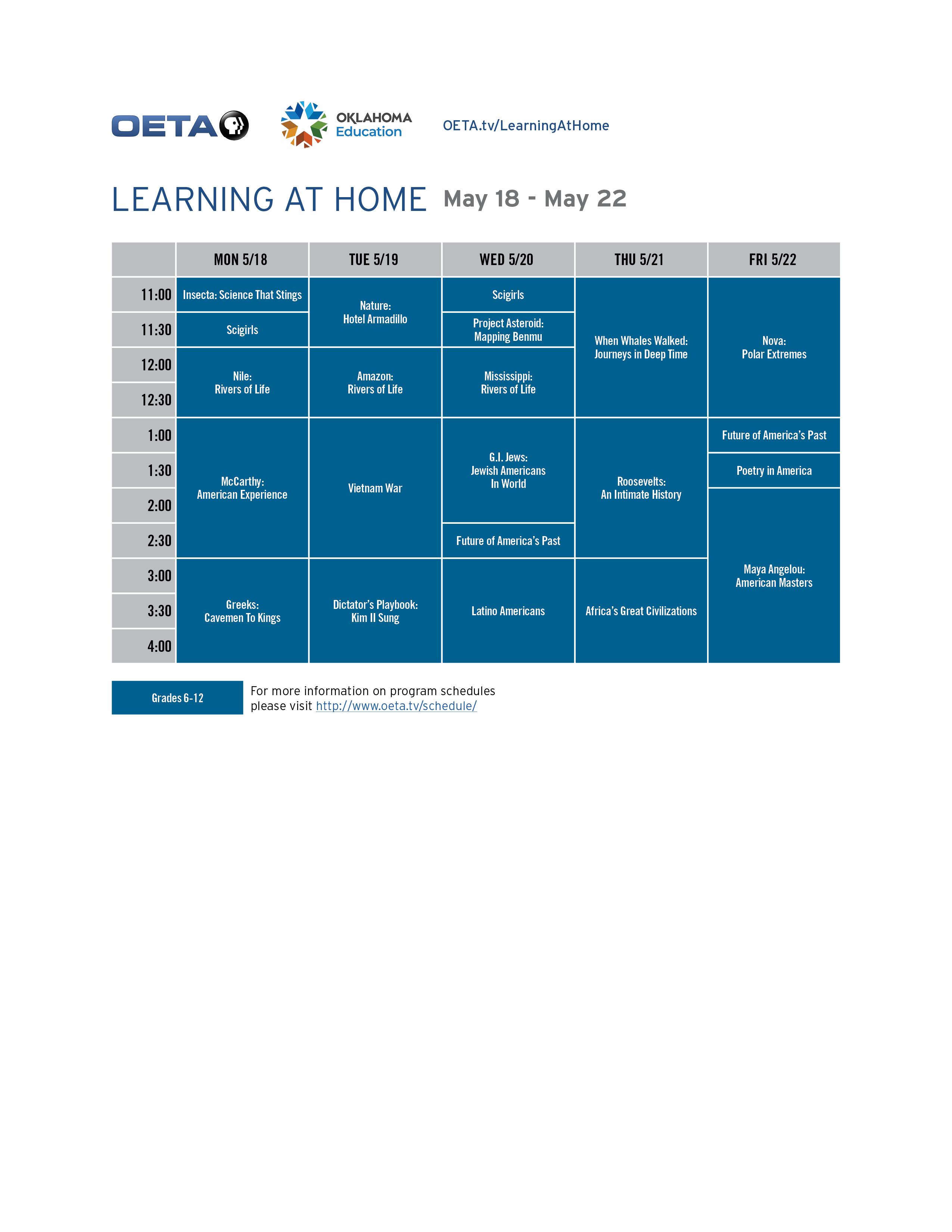 OETA WORLD Guide - April 13-17