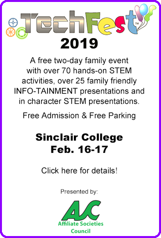 TechFest 2019: A free two-day family event with STEM activities and Info-tainment presentations. Click here for details!
