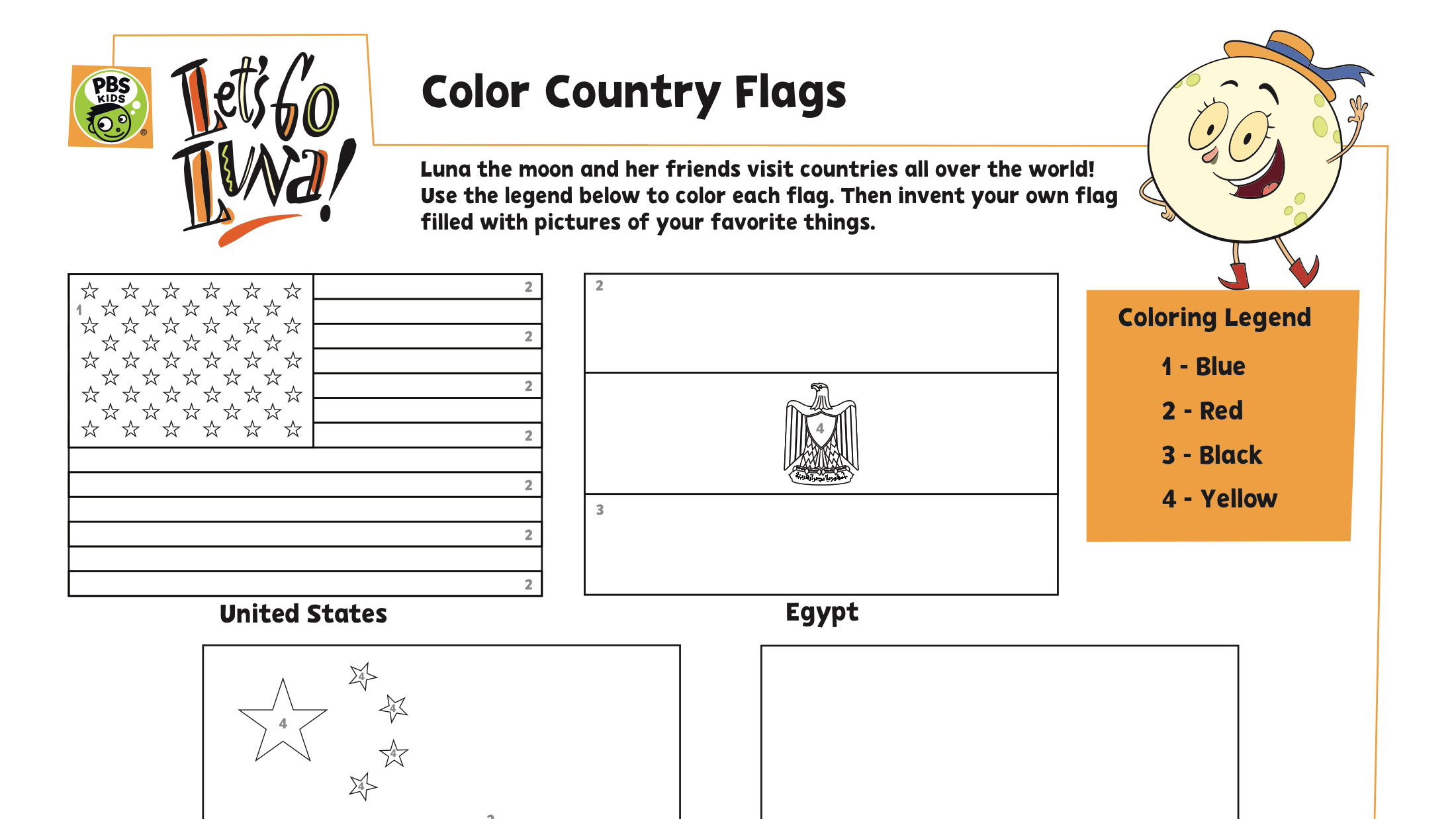 COLOR COUNTRY FLAGS