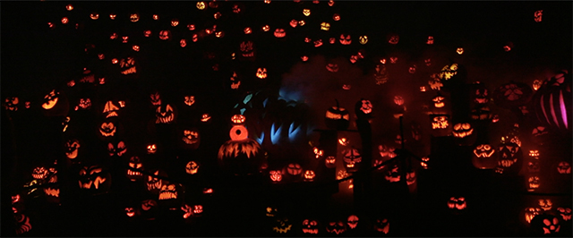 Pumpkins that are glowing