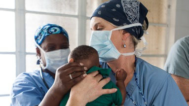 Marina Goldman in Sierra Leone.