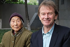 Michael Wood with a woman, Mrs. Chen