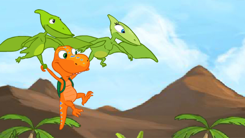 Dinosaur Train FLYING WITH BUDDY